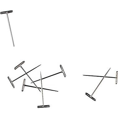 Staples® 10819-CC Nickel Plated T-Pin, 100/Pack