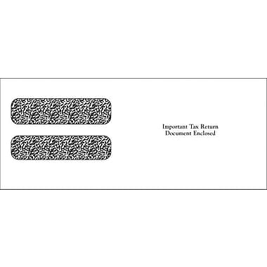 TOPS Gummed Double Window Envelope for LW23UP Tax Form, 24 lb., White, 3 3/4in. x 9in., 100/Pack