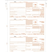 TOPS 1099C Tax Form, 1 Part, Federal - Copy A, White, 8 1/2 x 11, 50 Sheets/Pack