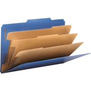 "Smead Classification Folders, 8-Section, 2/5 Cut, 3"" Expansion, Dark Blue, Legal,-size Holds 8 1/2"" x 14"", 10/Bx"
