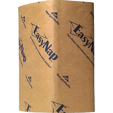 EasyNap® Brown Embossed Dispenser Napkins, 6,000/Case