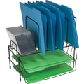 Staples® Black 7 Compartment Wire Sorter with CD Holder,
