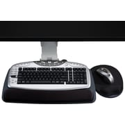 Staples Under Desk Mount Adjustable Keyboard Tray, Black (18240)
