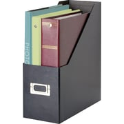 "Snap-N-Store™ Magazine File, 1 Jumbo Compartment, Black, 13""H x 4 1/2""W x 11""D"