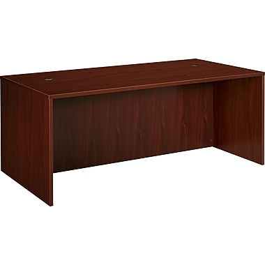 basyx by HON BL 72in. Shell Desk, Mahogany