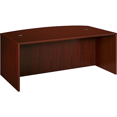 basyx by HON BL Collection, Shell Desk, Bow Front, Mahogany