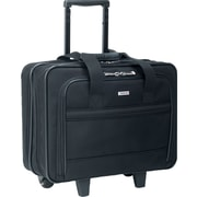 "U.S. Luggage™ Wheeled Laptop Computer Case, Ballistic Nylon, Black, 15""H x 16 1/2""W x 7 1/2""D"