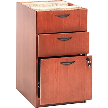 basyx by HON BW 3-Drawer Pedestal File, Bourbon Cherry