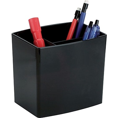 Staples® Contemporary Jumbo Pencil Cup with 3 Compartments