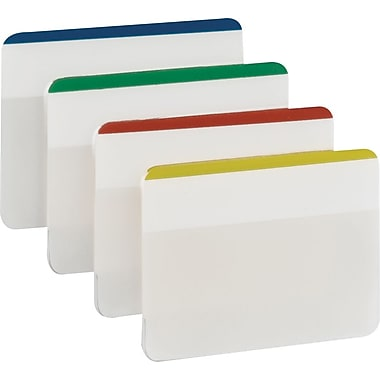 Post-it® 2in. Durable Filing Tabs, Assorted Colors, 24 Tabs/Pack