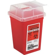 "Impact Sharps Waste Containers, Red, 1 Quart, 6 3/4""H x 4 1/2""W x 4 1/2""D"