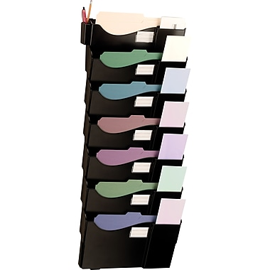 OIC Grande Central Mail and Filing Wall Pockets, 7-Pocket Wall File Set, Letter/Legal, Wall Mount
