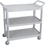 Staples Plastic Utility Cart, 3-shelf, Gray