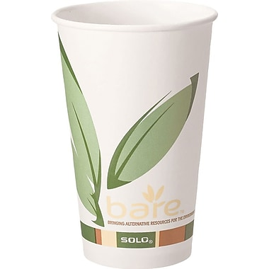 SOLO Bare™ Eco Forward Recycled Content PCF Paper Hot Cups