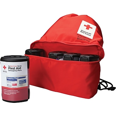 First Aid Only American Red Cross Emergency Smart Pack for One Person, Nylon Case