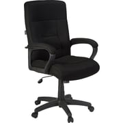 Staples® Ventana™ Mesh Executive High-Back Chair, Black