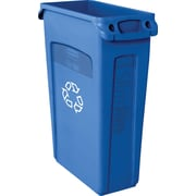 Rubbermaid Vented Slim Jim® Container, Blue, 23 gal.
