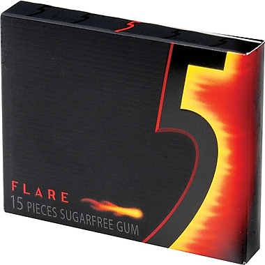 Wrigley's 5 Sugar-Free Gum, Flare, 10 Packs/Box