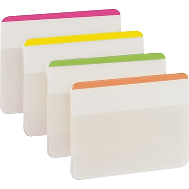 Post-it® 2in. Durable Filing Tabs, Assorted Bright Colors 24 Tabs/Pack