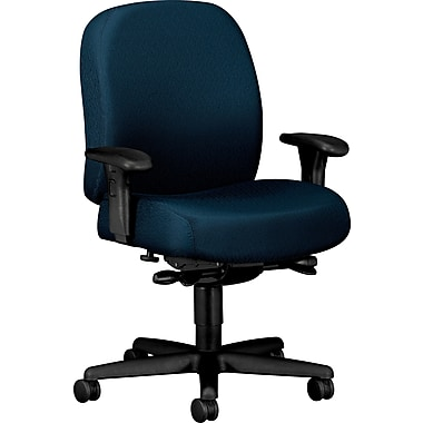 HON ® Pyramid 3500 Mid-Back Fabric Task Chair With Adjustable Arms, Blue