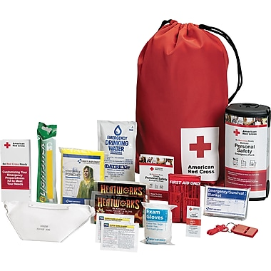 First Aid Only™ American Red Cross Personal Safety Pack for One Person, Nylon Backpack