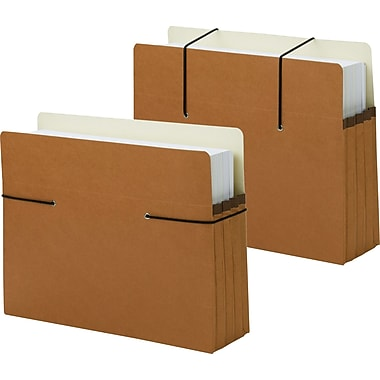 Smead® Secure Pockets Expanding File, Letter, 3 1/2in. Expansion, 25/Box