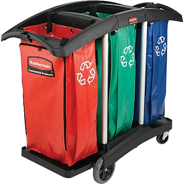 Rubbermaid 100 gal. Triple-Capacity Cleaning Cart
