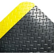 "Crown Anti-Fatigue Floor Mats, 36""W x 60""L, Black with Yellow Border"