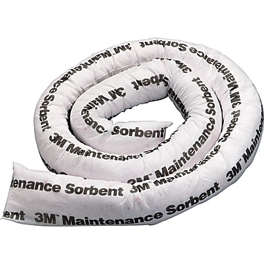 3M™ Maintenance Sorbent Mini-Boom, 2 Gallons Sorbing Volume Each, 6/Pack