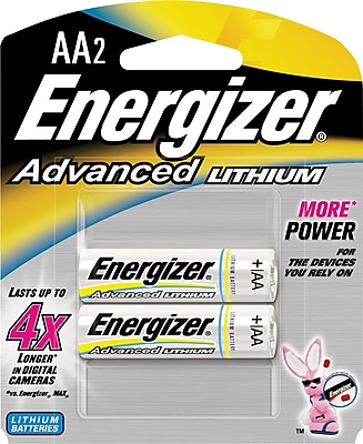Energizer Advanced Lithium Batteries AA 2 Pack