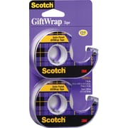 "Scotch® Transparent Giftwrap Tape with Dispenser, 3/4"" x 18.1 yds., 2/Pack (15DM-2)"