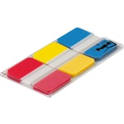 Post-it® 1 Durable Tabs, Red/Yellow/Blue, 66 Tabs/Pack