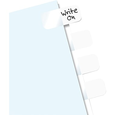 Redi-Tag® Easy-To-Read Self-Stick Index Tabs, White, 104 Tabs/Pack