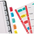 Redi-Tag® Printable Laser Index Tabs, Self-Stick Plastic, 15 Sheets, Assorted Colors, 375/Pack