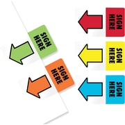 "Redi-Tag® 1"" Flags, ""Sign Here"", Assorted Colors, 100 Flags/Pack"
