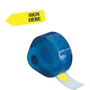 "Redi-Tag® Yellow ""Sign Here"" Flags with Dispenser, Each"