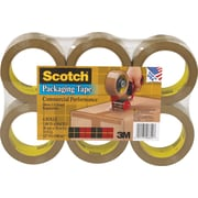Scotch® Commercial Performance Packaging Tape, Tan, 1.88 x 54.6 yds, 6 Rolls