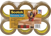 Scotch® Commercial Performance Packaging Tape, Tan, 1.88' x 54.6 yds, 6 Rolls