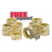 Scotch® Commercial Performance Packaging Tape, 1 Hand Dispenser/12 Rolls