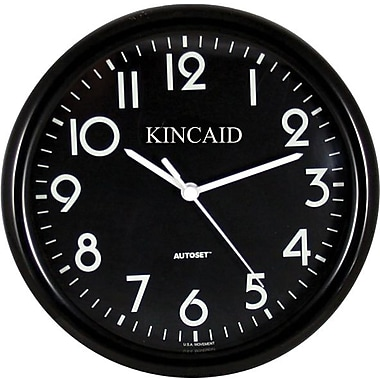 Kincaid® 10in. Round Wall Clock, Black
