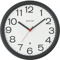 Kincaid® 12in. Round Radio Control Wall Clock, Black