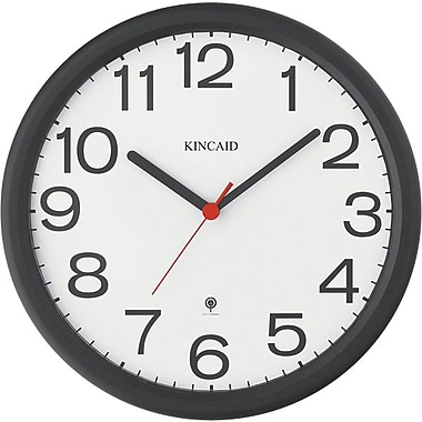 Kincaid® 12in. Round Radio Control Wall Clock, Black