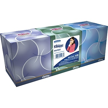 Kleenex® Antiviral Facial Tissues, 3-Ply, 3/Pack