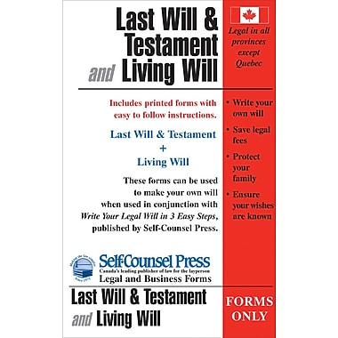 Self-Counsel Press Last Will & Testament