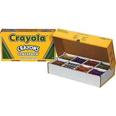 Crayola® Classpack Crayons, 8 Color Large Size, 400/Box
