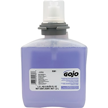 GOJO® TFX Luxury Foam Soap, Refill, 1,200 ml., 2/Case