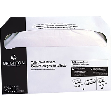 Rest Assured Half-Folded Toilet Seat Covers, 5,000/Carton