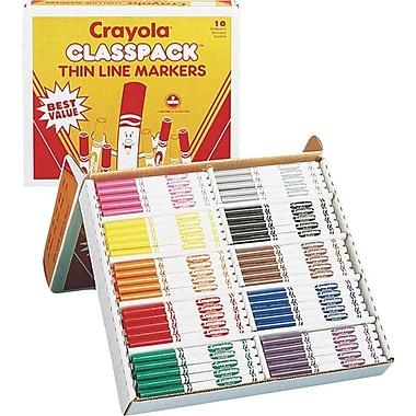 Crayola® Fine Line Classpack® Markers, 200/Box