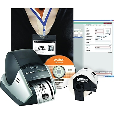 Brother QL-570VM Visitor Badge and Management Kit