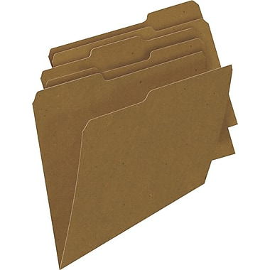 Sustainable Earth Brand by Staples® Natural Brown, 3 Tab, Assorted Positions, 100/Box
